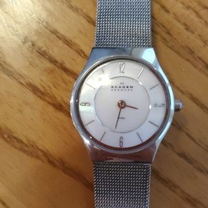 Skagen metal mesh watch